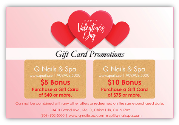 Q Nails & Spa Holiday Gift Card Promotions